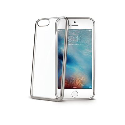Ver Celly LASER800SV 47 Protectora Plata Transparente funda para telefono movil