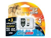 Dane-elec Tarjeta De Memoria Flash - 4 Gb Da-4in1-04g-r