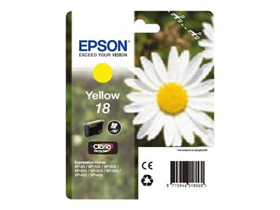 Epson Cartucho Amarill 18 Xp-102  205  305  405