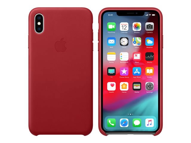 FUNDA IPHONE XS MAX LEATHER ROJO