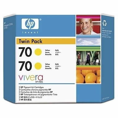Hp Tinta Amarilla Hp 70 Pack 2