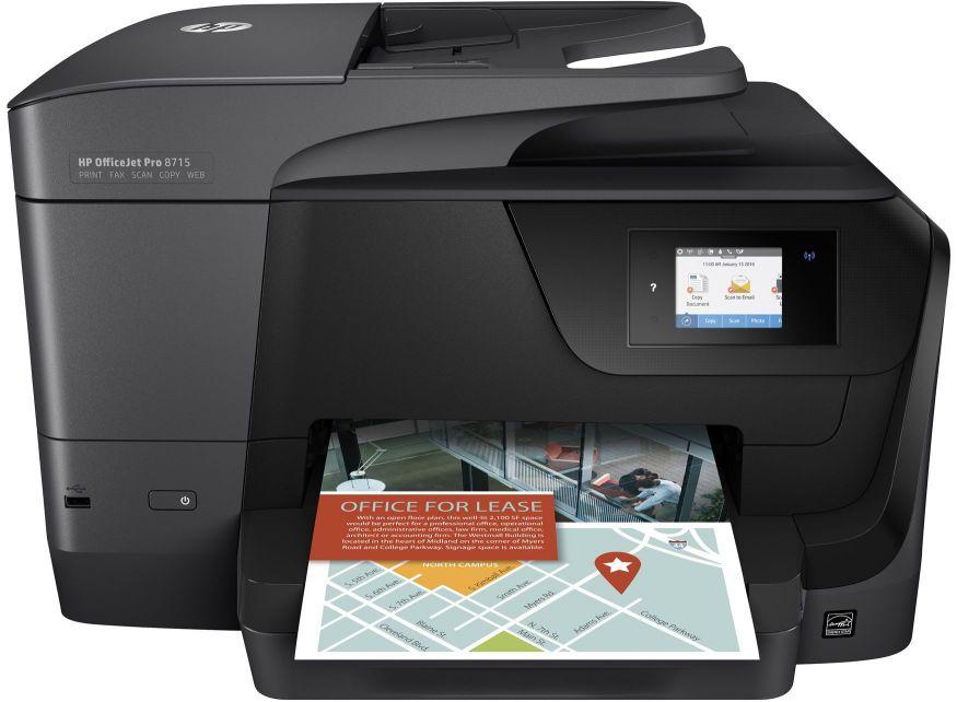 Ver HP OfficeJet Pro 8715 AiO Inyeccion de tinta termica A4 Negro