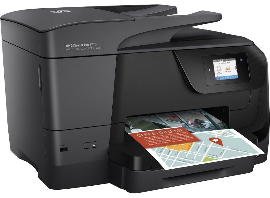 Hp Officejet Pro 8715 Aio Inyeccion De Tinta Termica A4 Negro