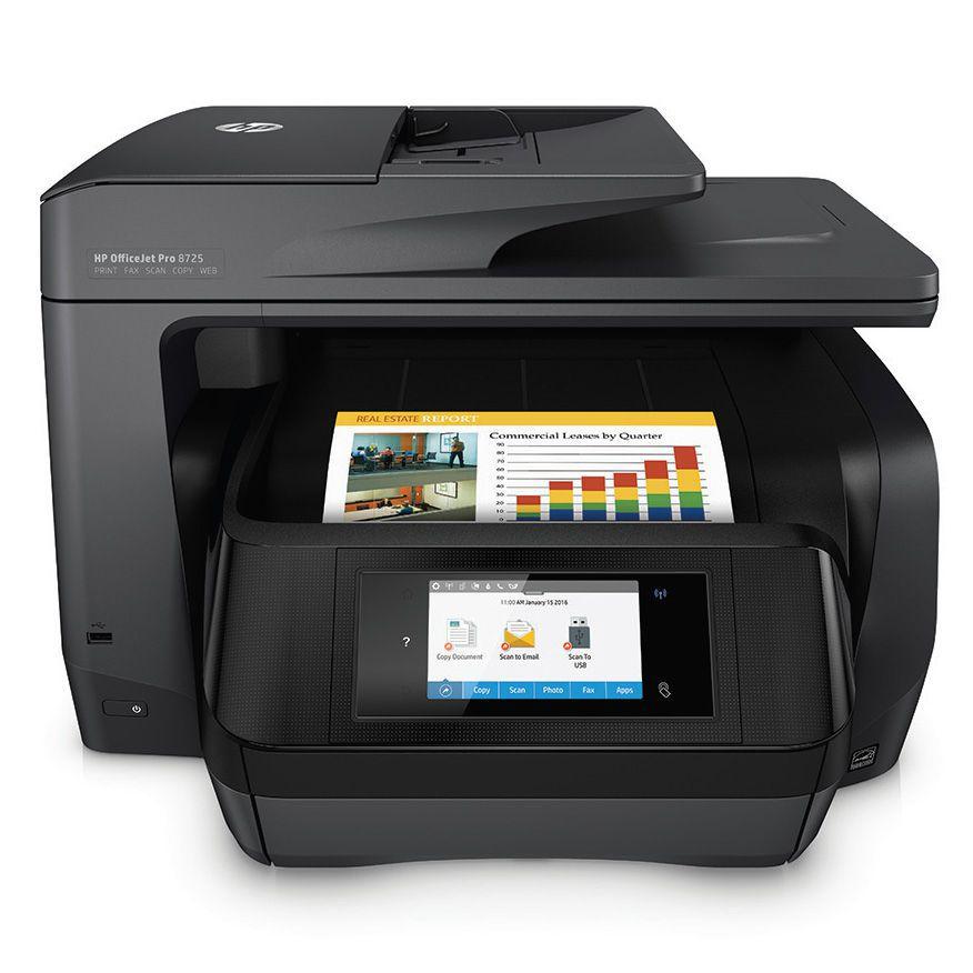 Ver HP OfficeJet Pro 8725 AiO Inyeccion de tinta termica A4 Wifi