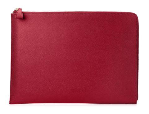 HP Spectre 13 3 Split Leather Sleeve Funda Rojo