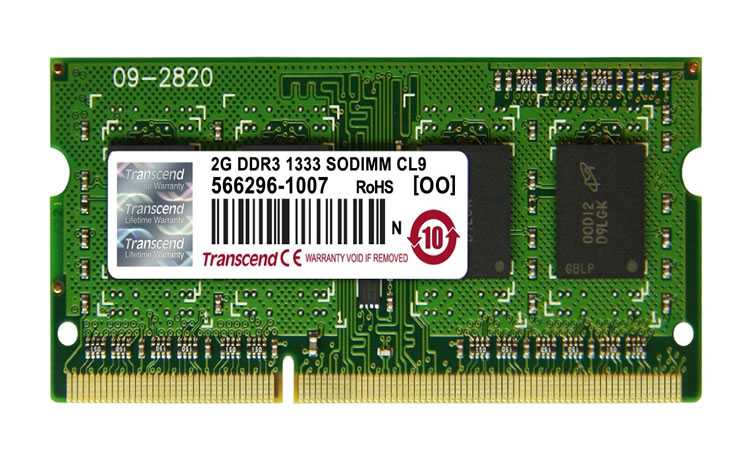 Ver Transcend SO DIMM DDR3 2 GB NO ECC