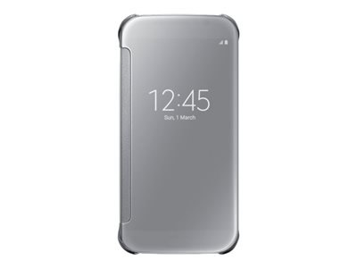 Ver SAMSUNG COVER CLEAR VIEW S6 PLATEADA TAPA