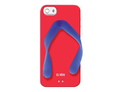 Ver SBS COVER TPU DISENO TROPICAL IPHONE 5 ROJO