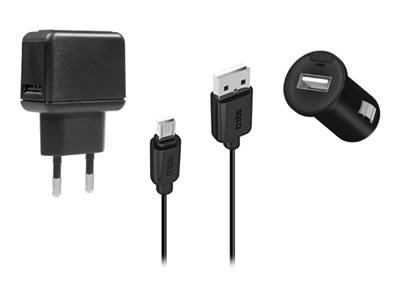 Ver SBS KIT CARGADOR COCHE CASA CABLE DATOS MICRO USB