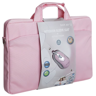 Tech Air Bundle Baggie Rosa 15 6 Con Raton Rosa