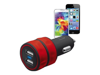 Ver TRUS DUAL SMARTPHONE CAR CHARGER  RED