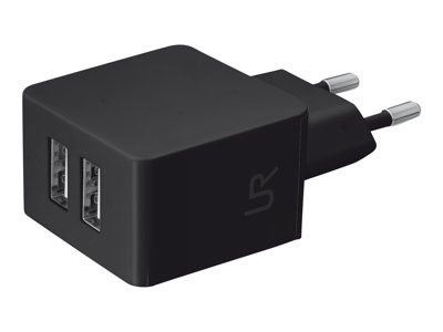 Ver TRUS DUAL SMARTPHONE WALL CHARGER  BLACK