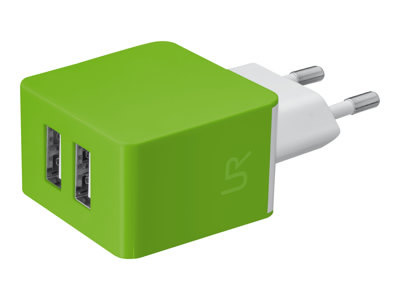 Ver TRUS DUAL SMARTPHONE WALL CHARGER  LIME