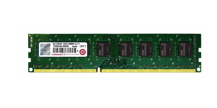 Ver Transcend DDR3 8 GB 1600 MHZ NO ECC