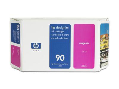 Cartucho de tinta magenta de 225 ml HP 90