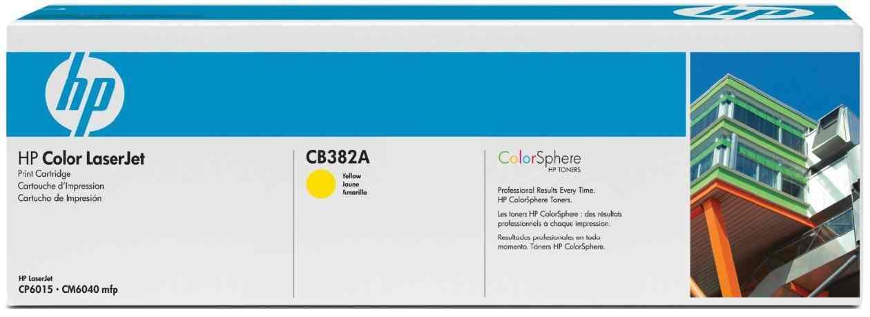 Ver Cartucho de impresion amarillo HP Color LaserJet CB382A