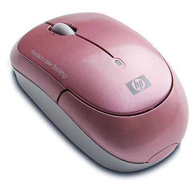 Minirraton Laser Inalambrico Hp De Color Rosa