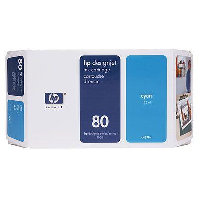Cartucho de tinta cian de 350 ml HP 80