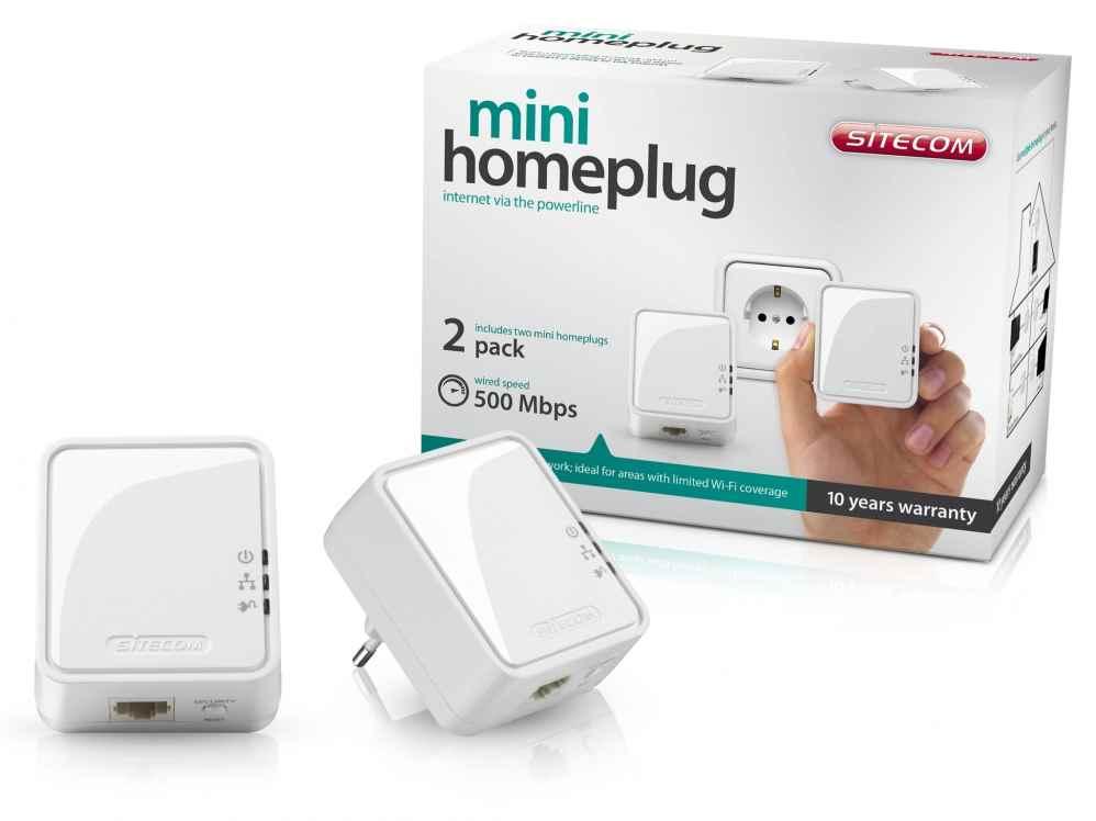Ver Sitecom Mini Homeplug 500 Mbps Dual Pack