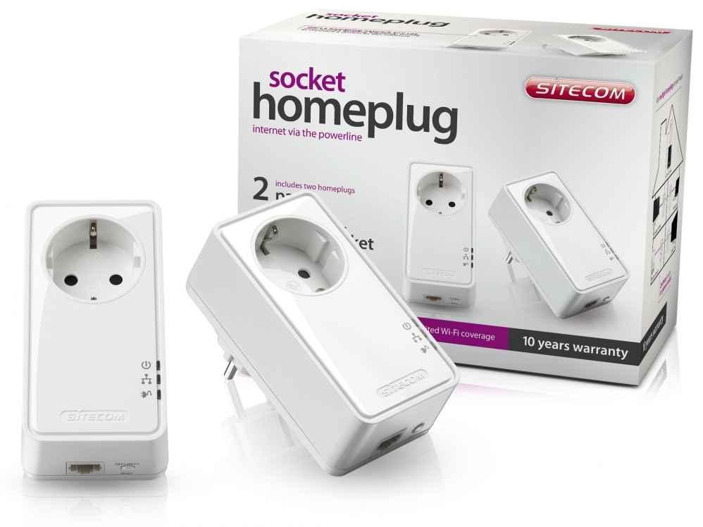Sitecom Socket Homeplug 500 Mbps Dual Pack