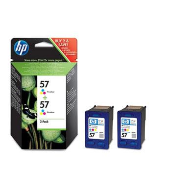 Ver Paquete de dos cartuchos de inyeccion de tinta tricolor HP 57