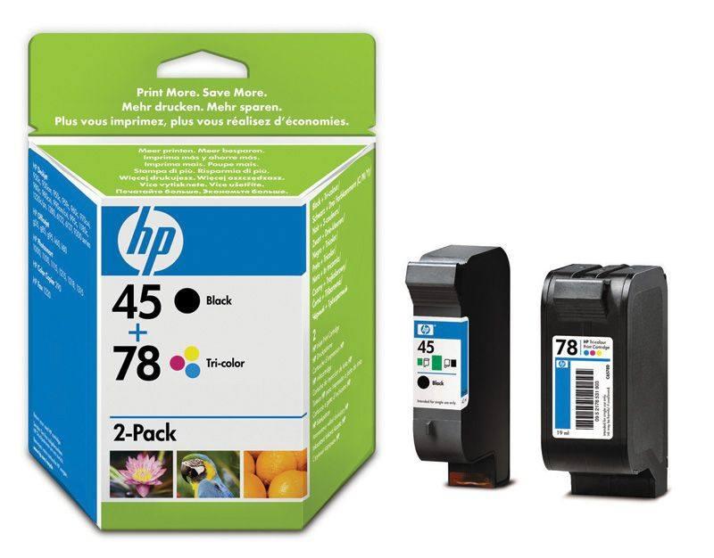 Cartuchos De Impresion Para Inyeccion De Tinta En Paquetes Combinados Hp 45