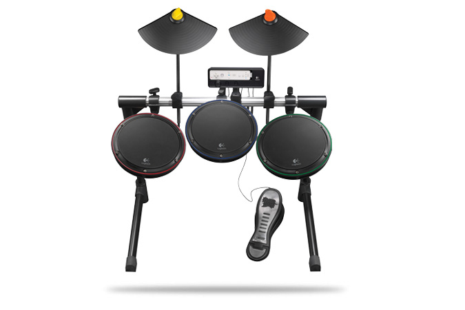 Logitech Wireless Drum Controller  Wii