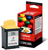 Lexmark Nr 25 Hoog Rendement Kleuren Inktcartridge