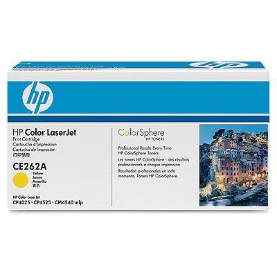 Cartucho de impresion amarillo HP Color LaserJet CE262A