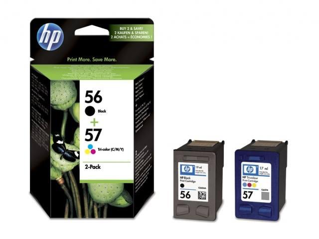 Ver Paquete de cartuchos de impresion por inyeccion HP 56