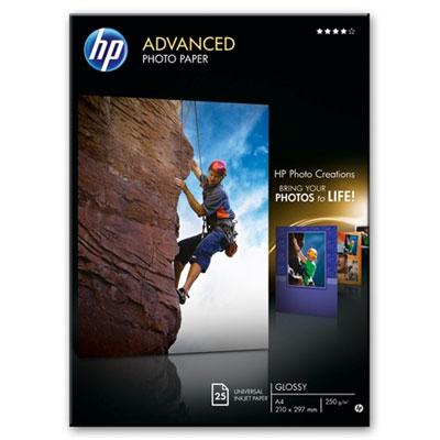 Papel fotografico satinado avanzado HP - 25 hojas