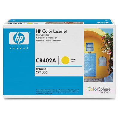 Cartucho de impresion amarillo HP Color LaserJet CB402A