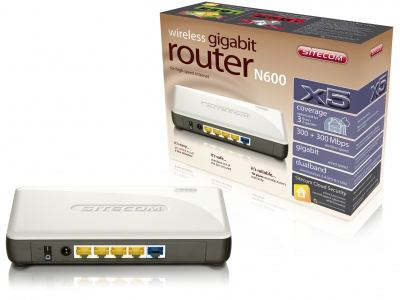 Sitecom Wireless Gigabit Router N600 X5