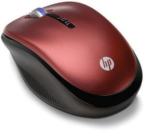 Hp 24ghz Wireless Optical  Red  Mobile Mouse
