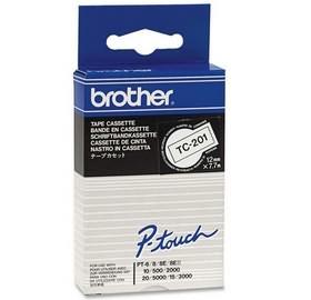 Brother TC 201 Negro sobre blanco cinta para impresora de etiquetas