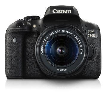 Canon EOS 750D EF S18 55mm IS STM 242MP CMOS 6000 x 4000Pixeles Negro