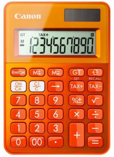 Ver Canon LS 100K Escritorio Basic calculator Naranja