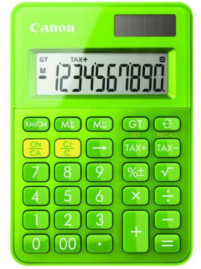 Ver Canon LS 100K Escritorio Basic calculator Verde