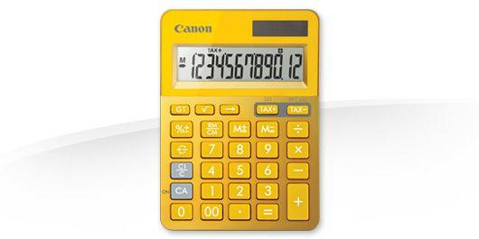 Canon LS 123K Escritorio Calculadora basica Metalico Amarillo