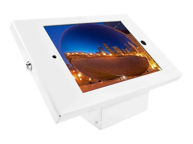 Compulocks iPad Secure Metal Jacket Enclosure with 45 Kiosk White