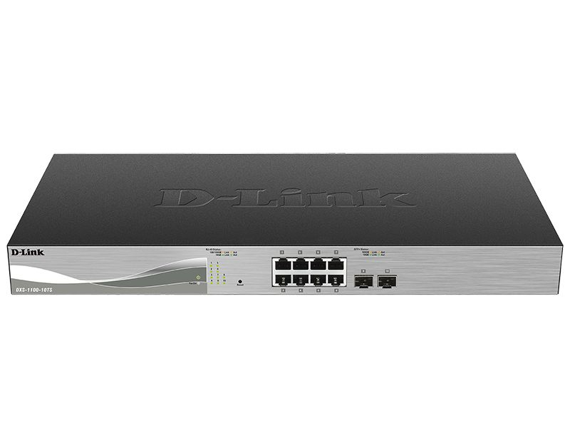 Ver D Link DXS 1100 10TS 10 Port 10 Gigabit Ethernet Smart Switch Gestionado L3 10G Ethernet 100