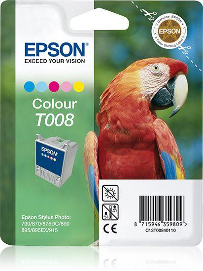 Epson Cartucho T008 color etiqueta RF