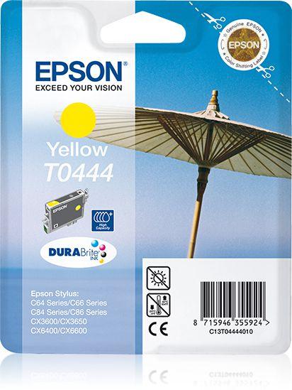 Epson Cartucho T0444 amarillo alta capacidad etiqueta RF