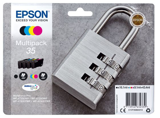 Epson Multipack 4 colours 35 DURABrite Ultra Ink