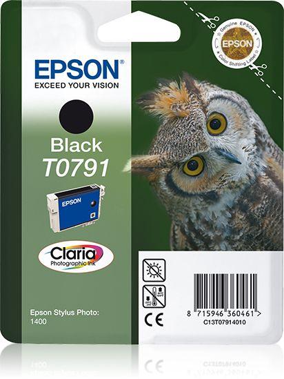 Epson Singlepack Black T0791 Claria Photographic Ink