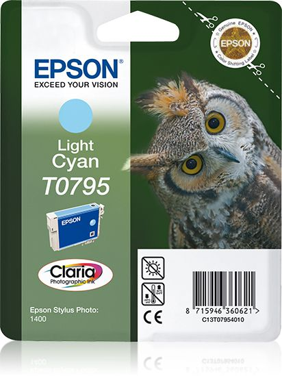 Epson Singlepack Light Cyan T0795 Claria Photographic Ink