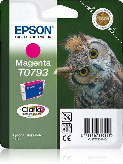 Epson Singlepack Magenta T0793 Claria Photographic Ink