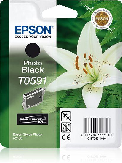 Epson Singlepack Photo Black T0591 Ultra Chrome K3