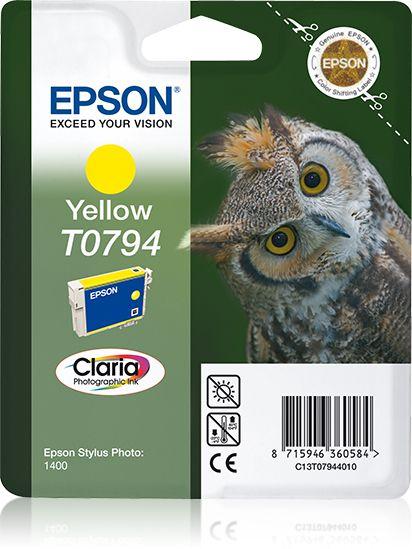 Epson Singlepack Yellow T0794 Claria Photographic Ink