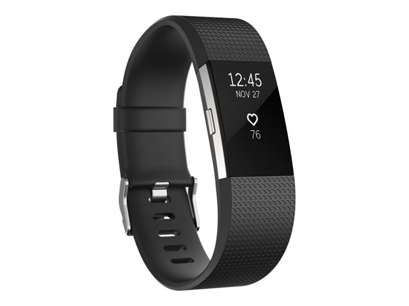 Ver Fitbit Charge 2 PLATA PEQUENO FB407SBKS